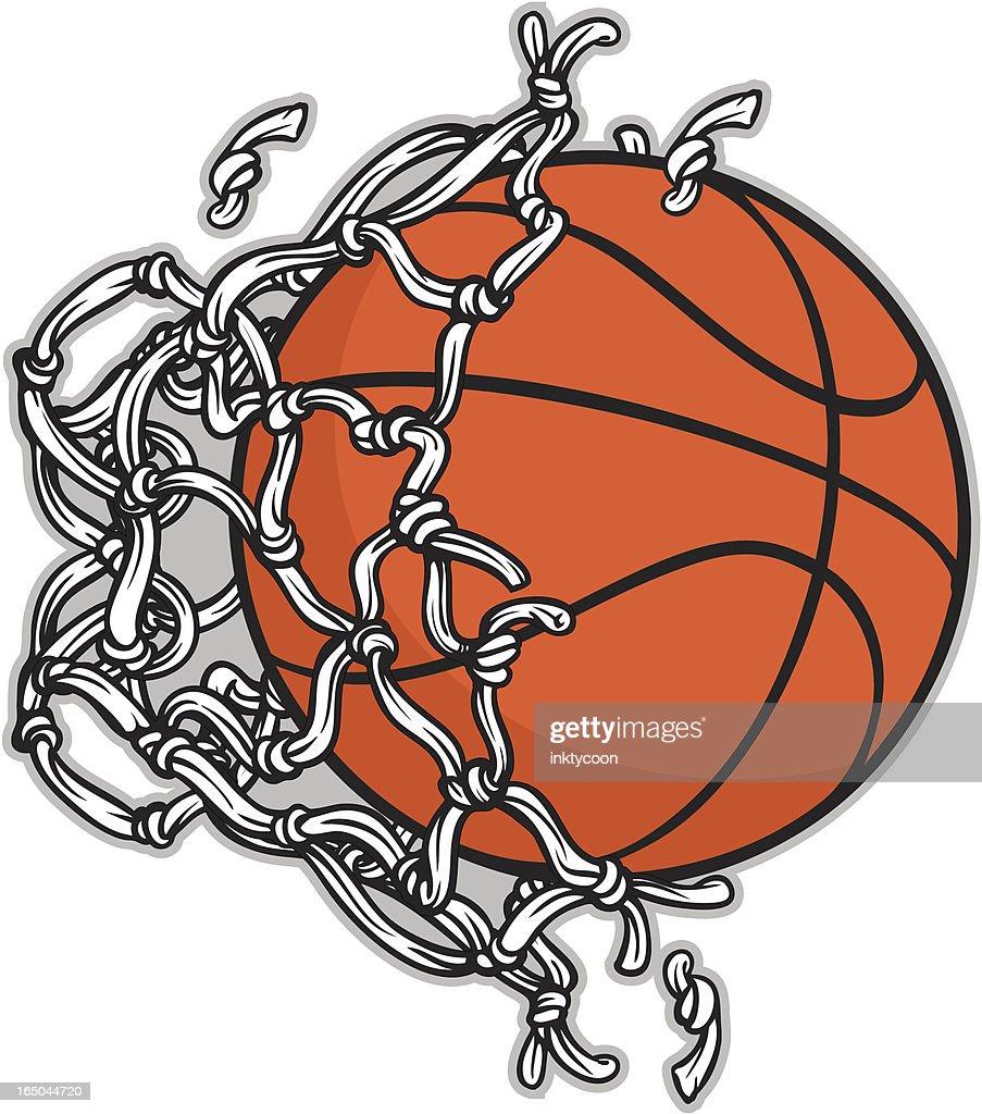 basketball net : stock illustration