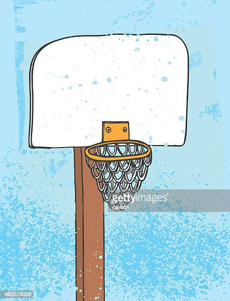 basketball net - making a basket scoring stock illustrations