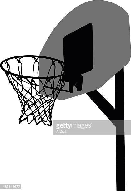 basketball net - basket stock illustrations, clip art, cartoons, & icons