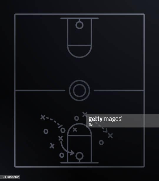 ilustraciones, imágenes clip art, dibujos animados e iconos de stock de diagrama del juego de baloncesto - jugadordebaloncesto