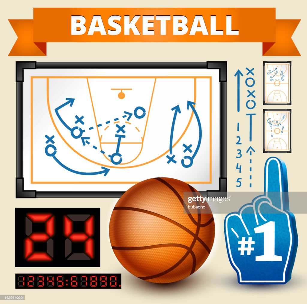 Basketball Play royalty free vector Design Elements