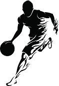 Basketball Player Flame