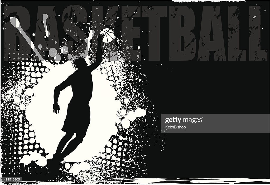 Basketball Player Grunge Background