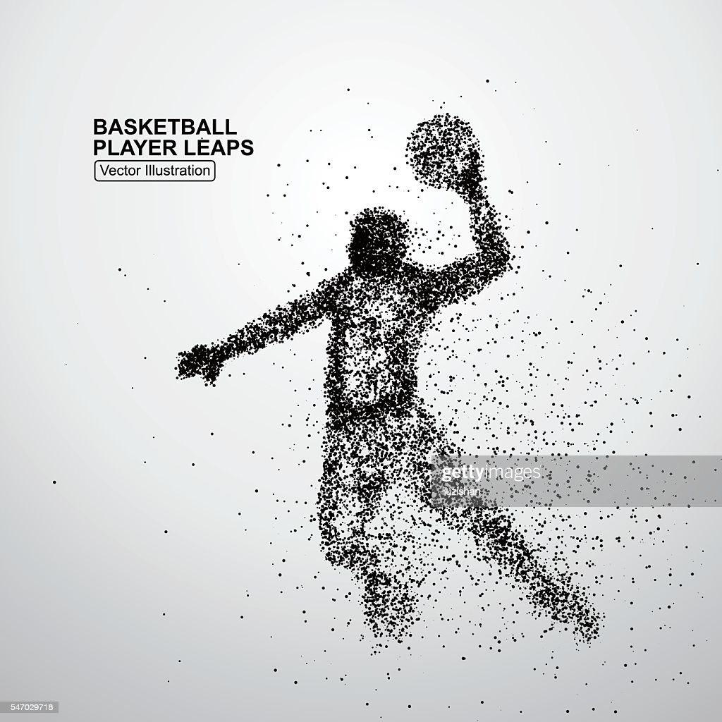 Basketball player leaps