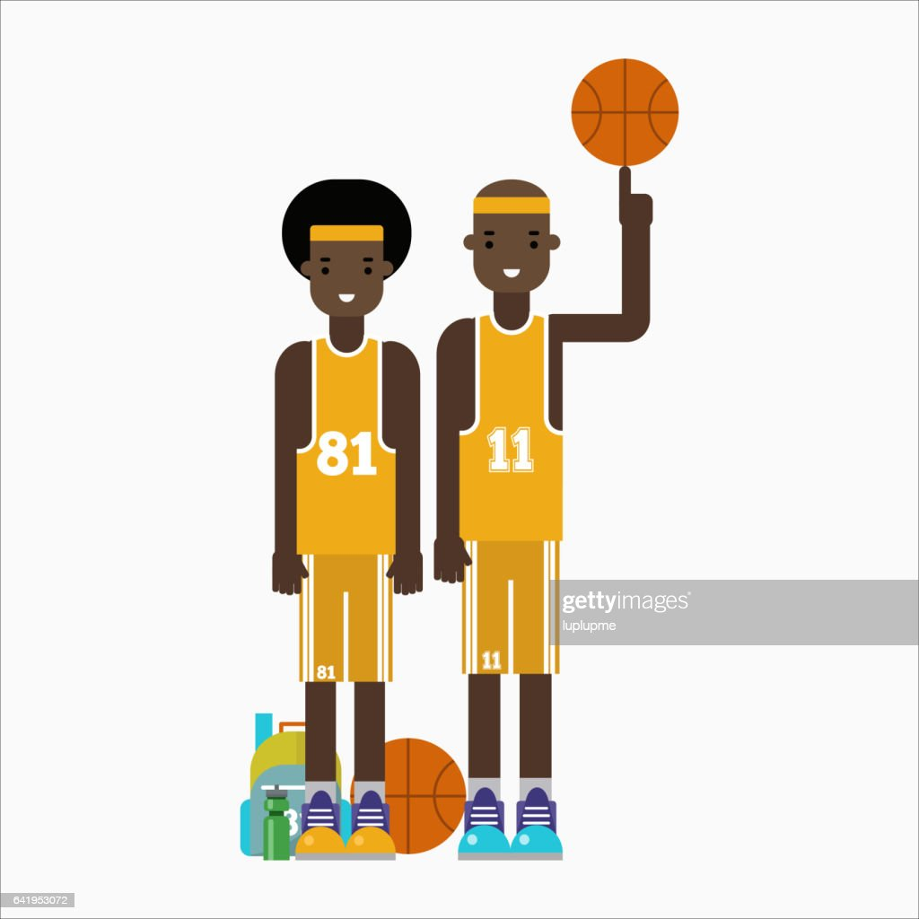 Basketball player team character vector