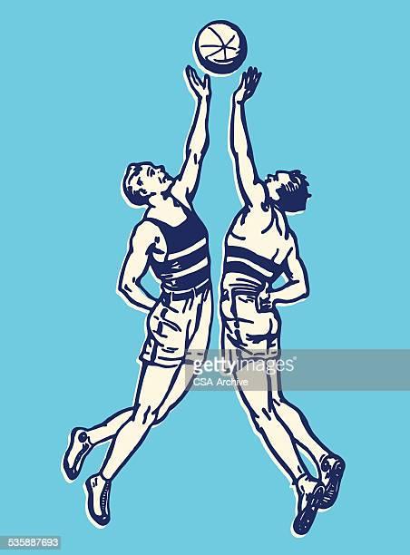 ilustrações de stock, clip art, desenhos animados e ícones de jogadores de basquetebol de saída - jogador de basquetebol