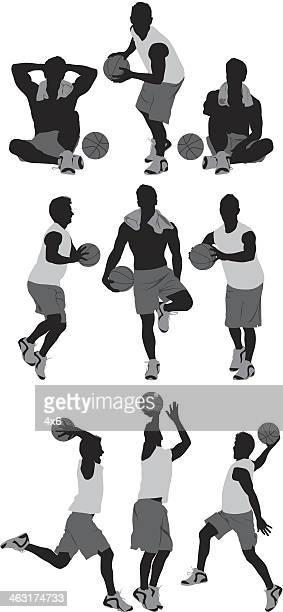 バスケットボール選手 - チームスポーツ点のイラスト素材/クリップアート素材/マンガ素材/アイコン素材