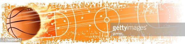 basketball scoring banner - basketball competition stock illustrations