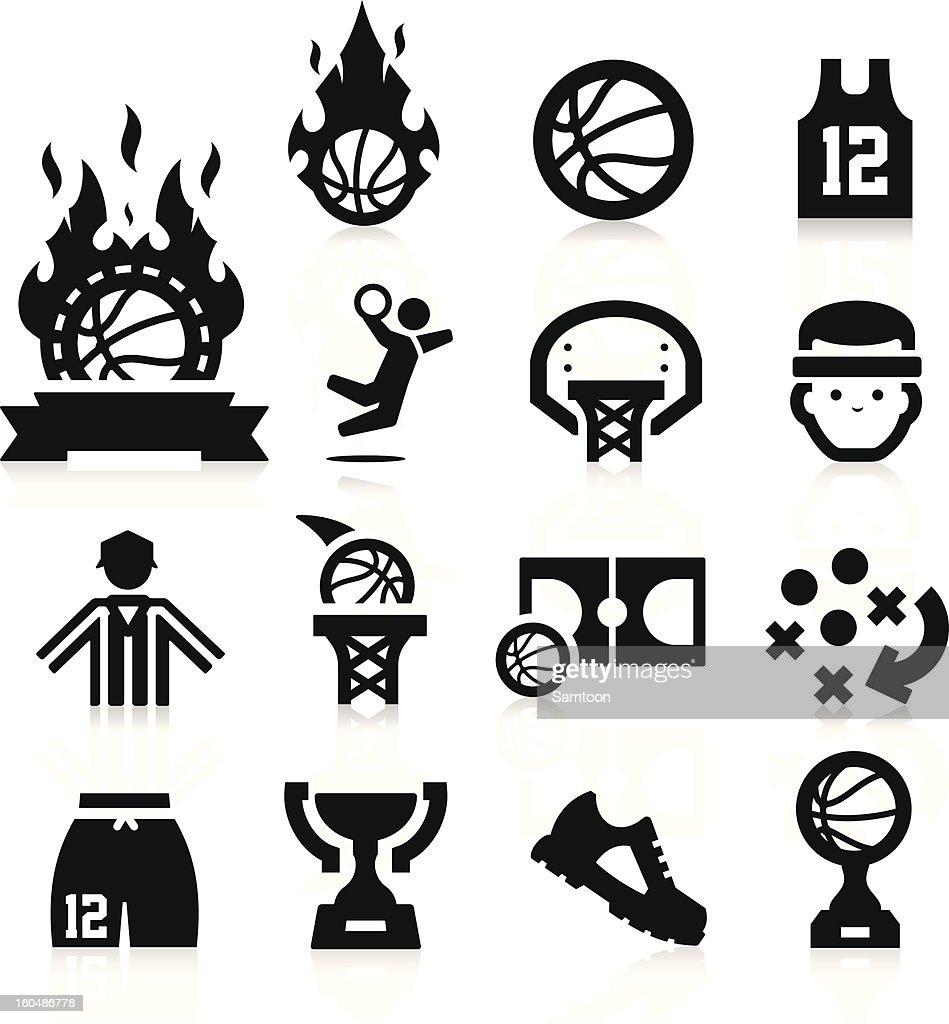 Basketball set of vector icons