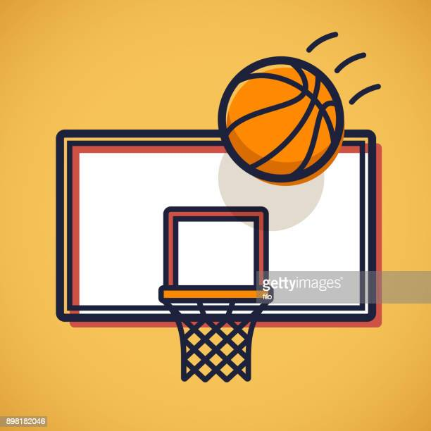 basketball shot - shooting baskets stock illustrations