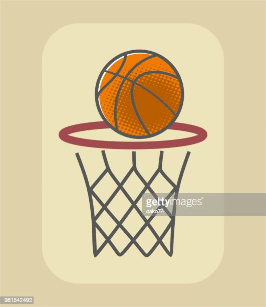 basketball shot - streetball stock illustrations, clip art, cartoons, & icons