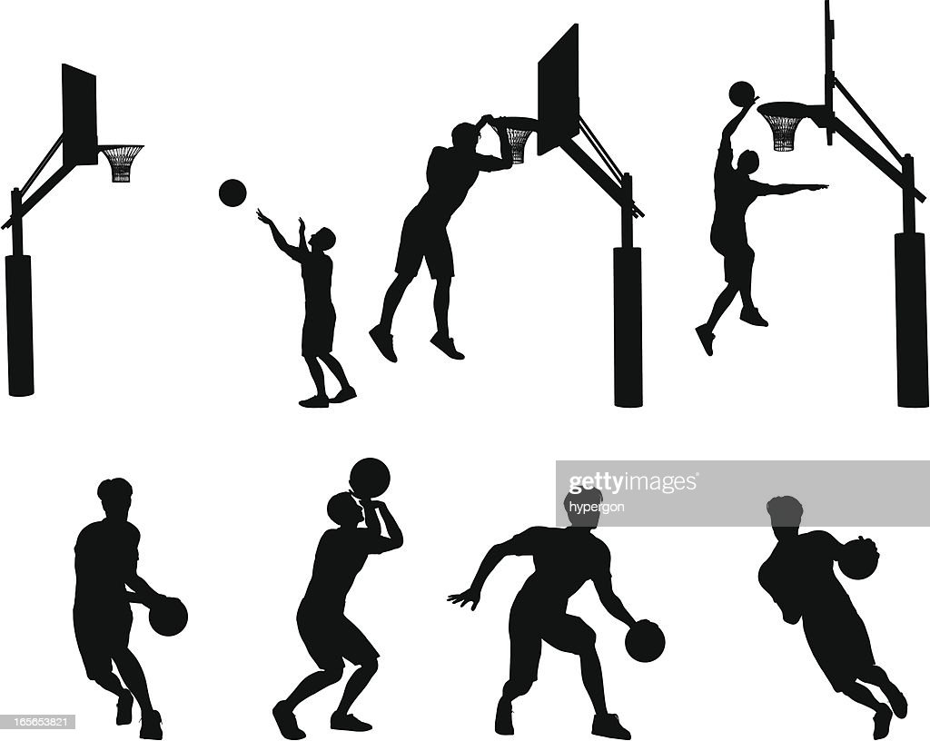 Basketball Silhouette Collection : stock illustration