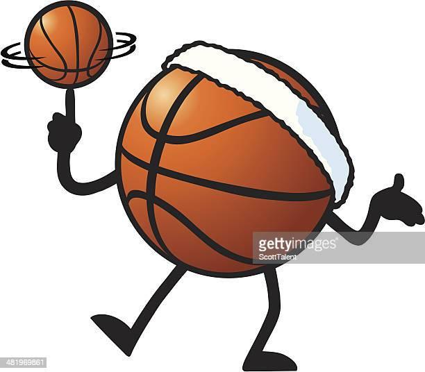 basketball spinner - hair band stock illustrations