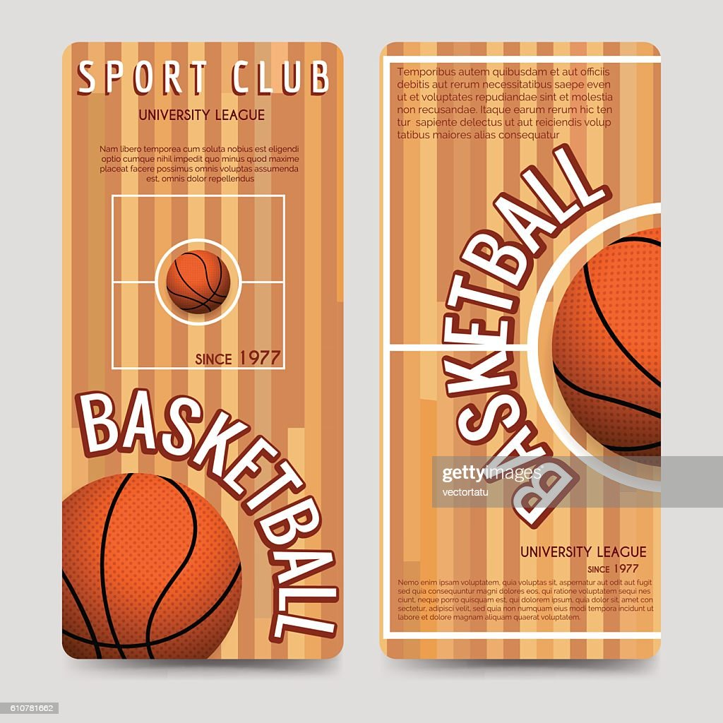 Basketball sport club flyers template
