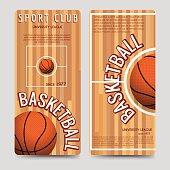 Basketball sport club flyers template
