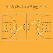 Basketball strategy background
