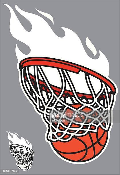 basketball swoosh - basket stock illustrations, clip art, cartoons, & icons