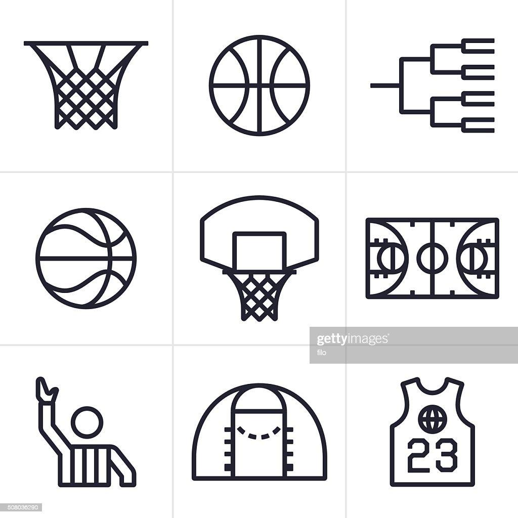 Basketball Symbols and Icons