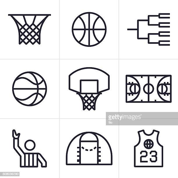 basketball symbols and icons - match sport stock illustrations, clip art, cartoons, & icons