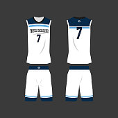 Basketball Team Jersey Template
