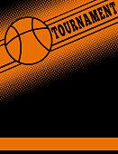 Basketball themed flier template