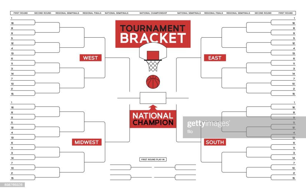 Basketball Tournament Bracket : stock illustration