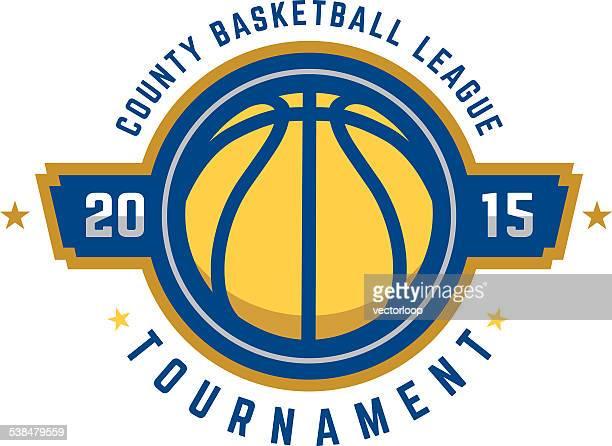 basketball tournament logo - basketball stock illustrations, clip art, cartoons, & icons