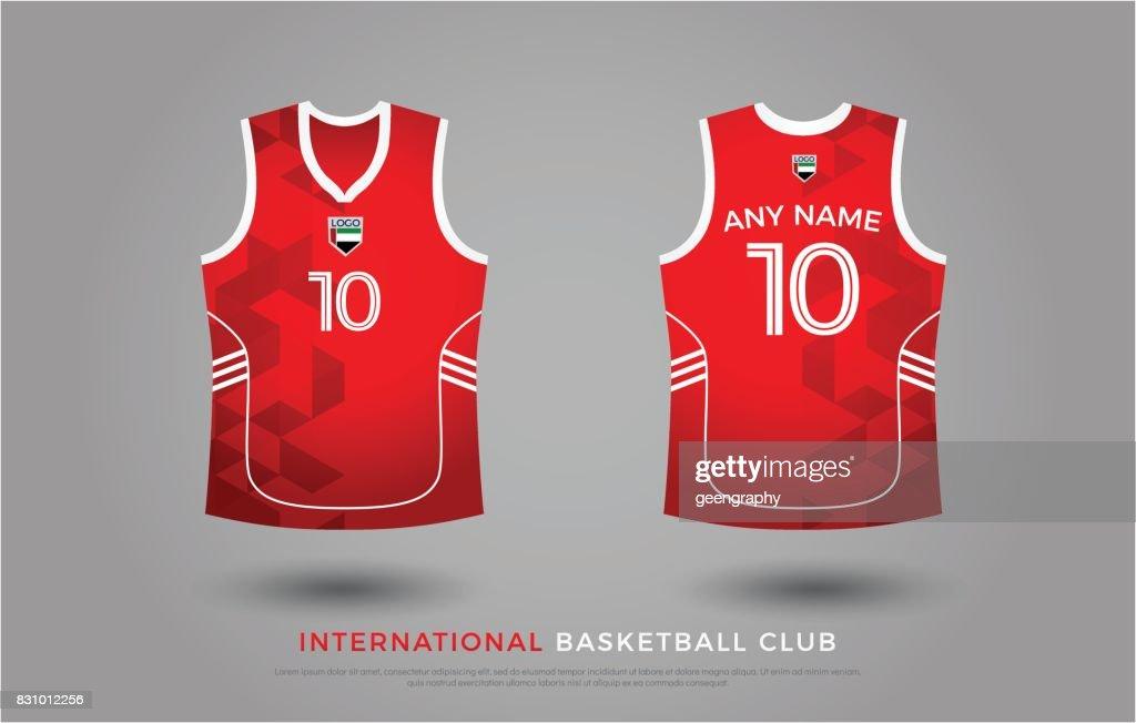 Basketball Tshirtdesign Einheitlich Festlegen Des Kit Basketball ...