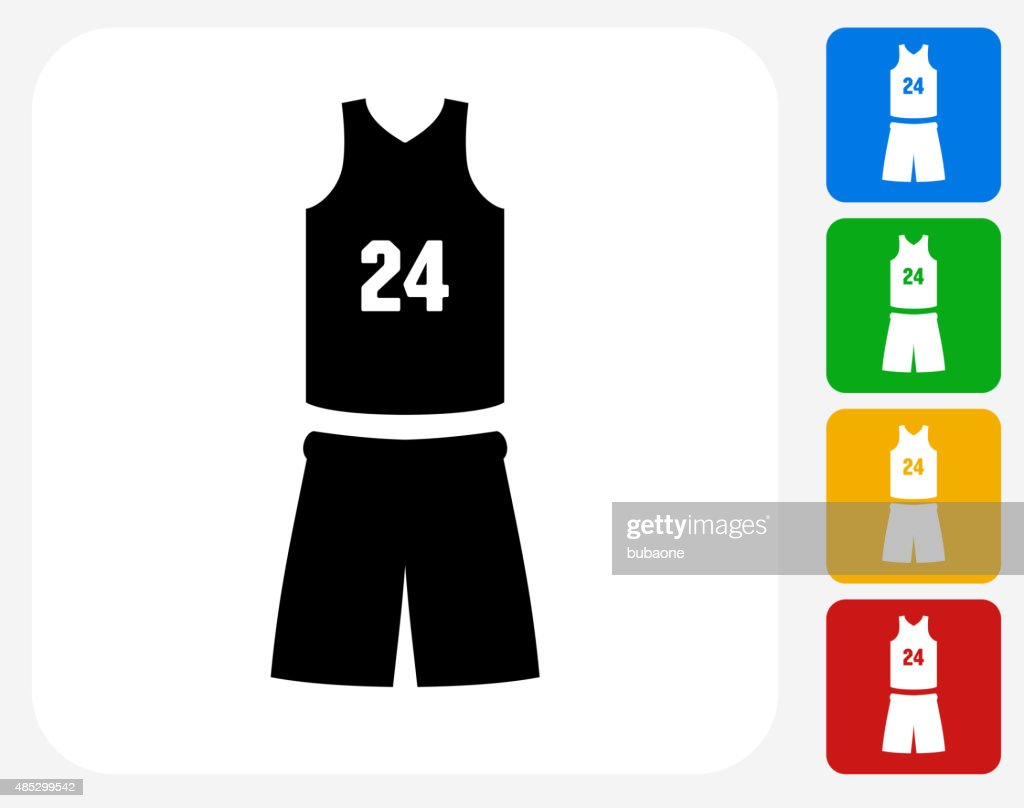 Basketball Uniform Icon Flat Graphic Design