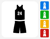 Basketball Uniform Icon Flat Graphic Design