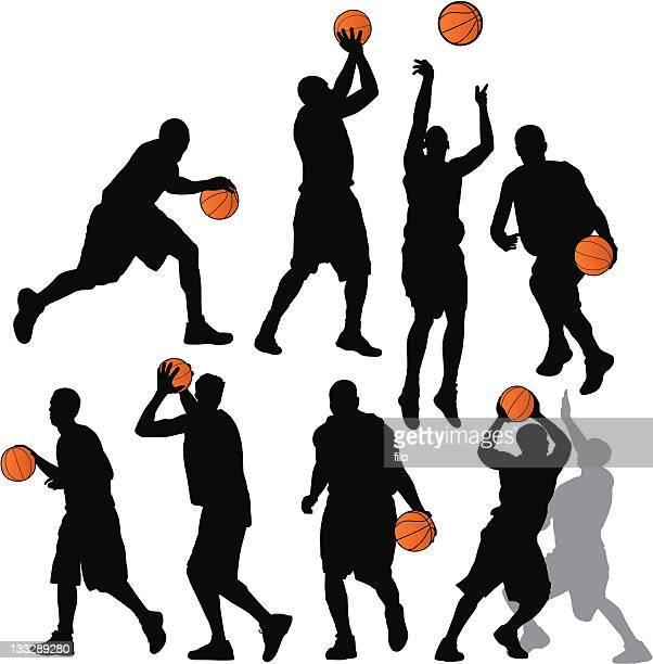 ilustraciones, imágenes clip art, dibujos animados e iconos de stock de de básquetbol - jugadordebaloncesto