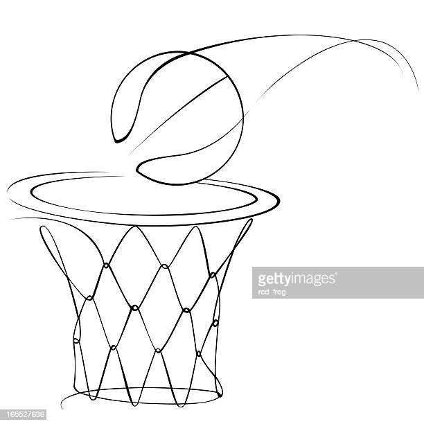 ilustraciones, imágenes clip art, dibujos animados e iconos de stock de de básquetbol - canasta de baloncesto