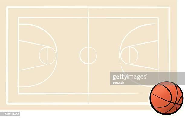 ilustraciones, imágenes clip art, dibujos animados e iconos de stock de de básquetbol - cancha de baloncesto