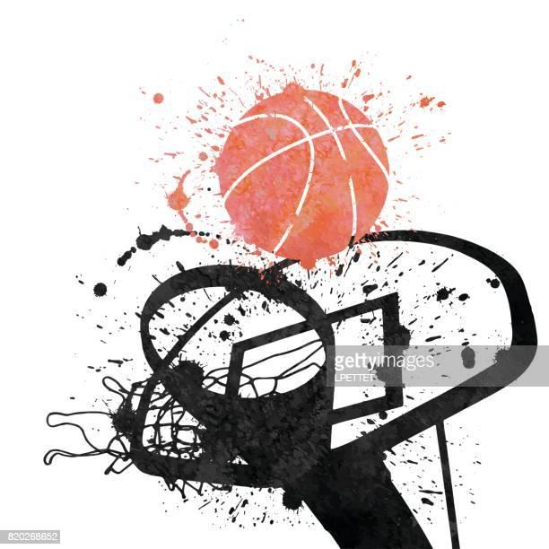 illustrations, cliparts, dessins animés et icônes de joueur de basket  - ballon de basket