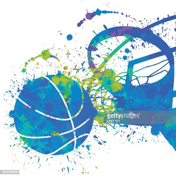 basketball - match sport stock illustrations, clip art, cartoons, & icons