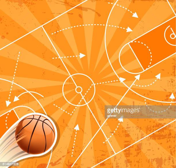 ilustraciones, imágenes clip art, dibujos animados e iconos de stock de baloncesto ganador planificación - cancha de baloncesto