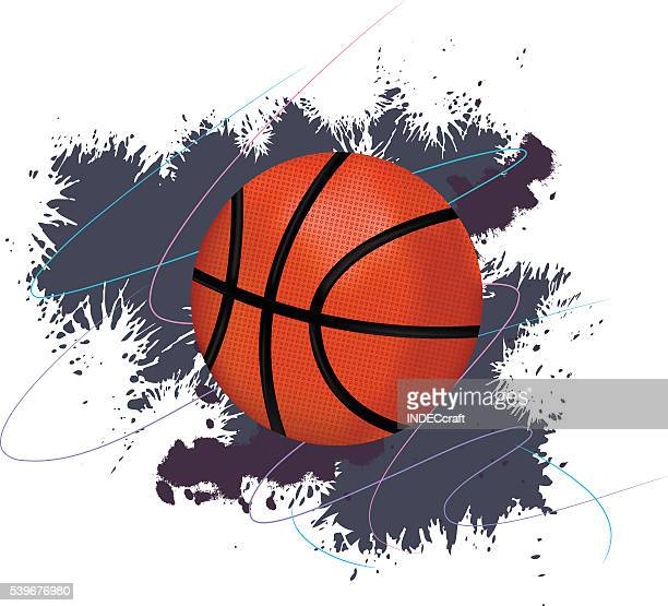basketball with grunge background - sports organization stock illustrations, clip art, cartoons, & icons