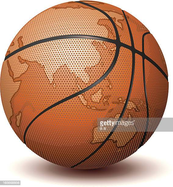basketball world - traditional sport stock illustrations, clip art, cartoons, & icons