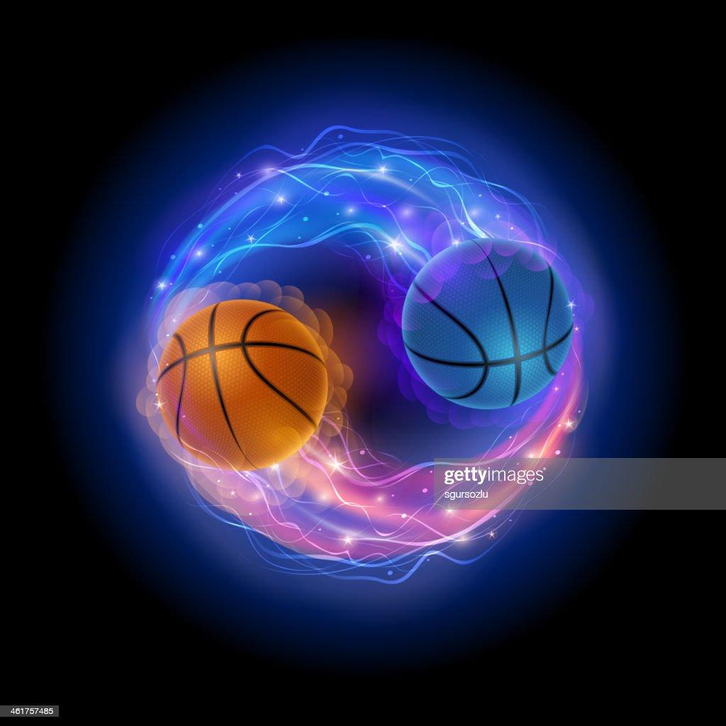 Basketball ying yang