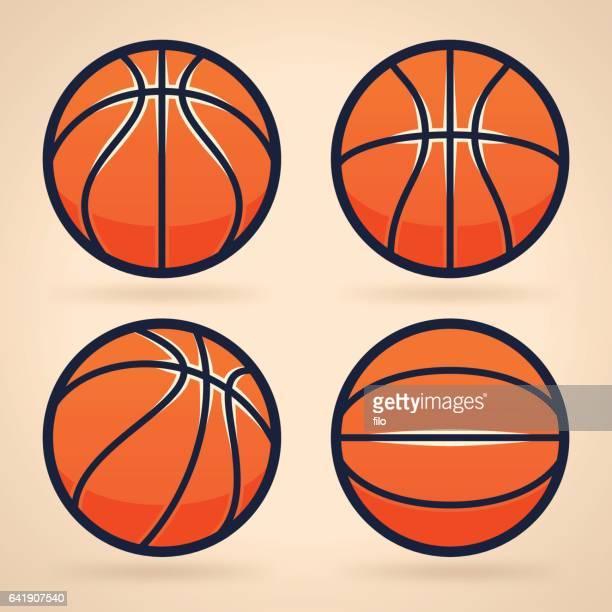 ilustraciones, imágenes clip art, dibujos animados e iconos de stock de basketballs  - pelota de baloncesto