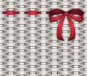 basketwork red bow