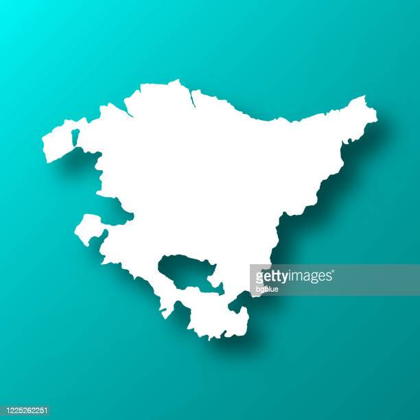 basque country map on blue green background with shadow - en búsqueda stock illustrations