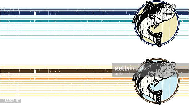bass grunge band - bass fishing stock illustrations