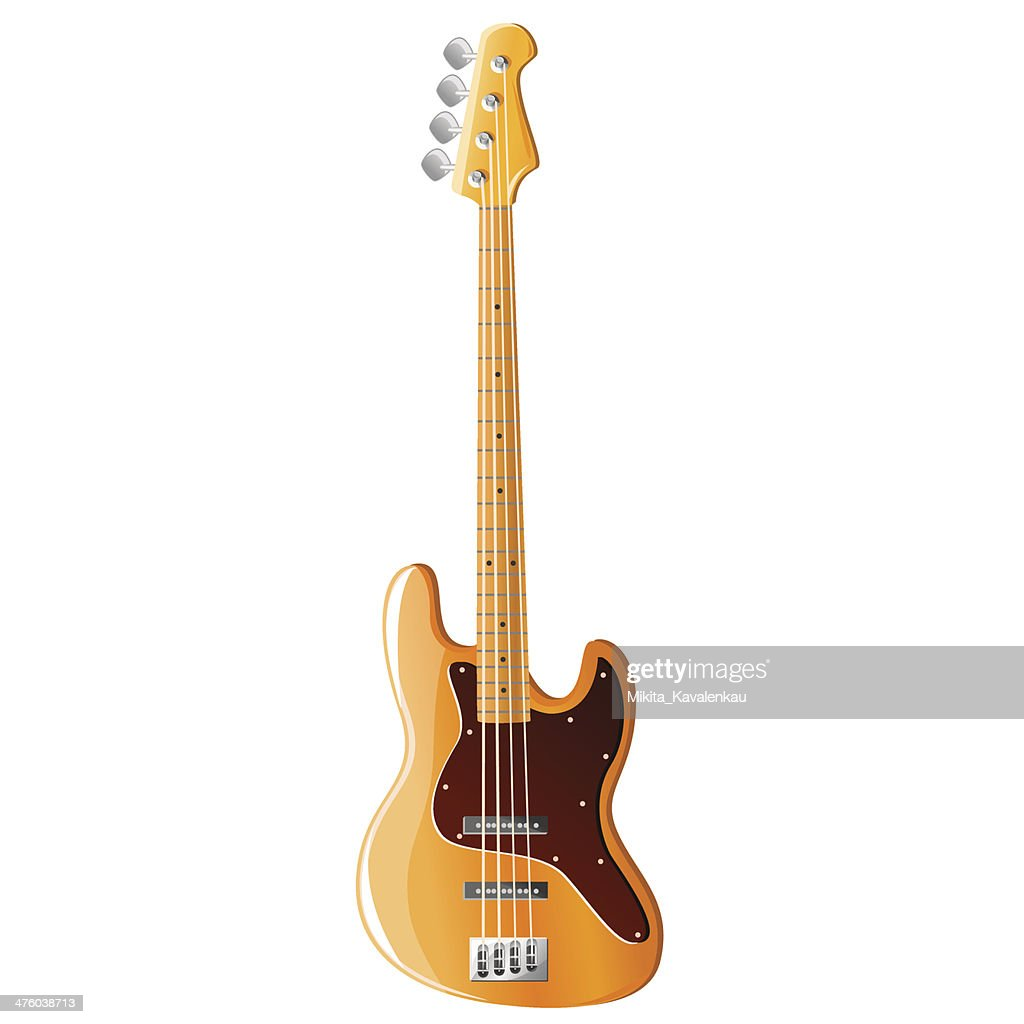 Bass guitar, vector illustration