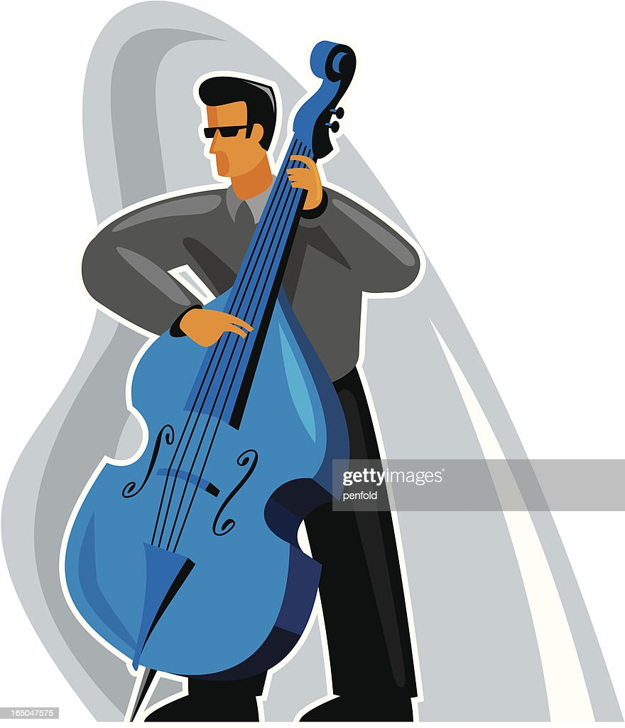 bass player : stock illustration