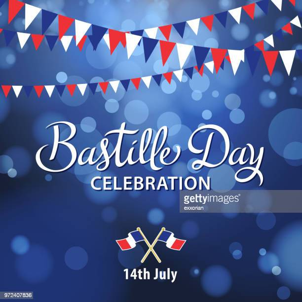 bastille day celebration - national holiday stock illustrations