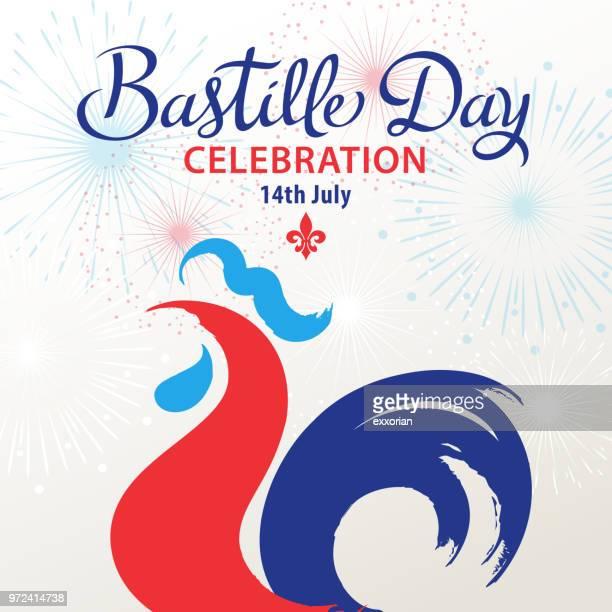 bastille day celebration - national holiday stock illustrations, clip art, cartoons, & icons