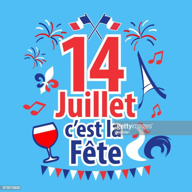 bastille day - french national day - french culture stock illustrations