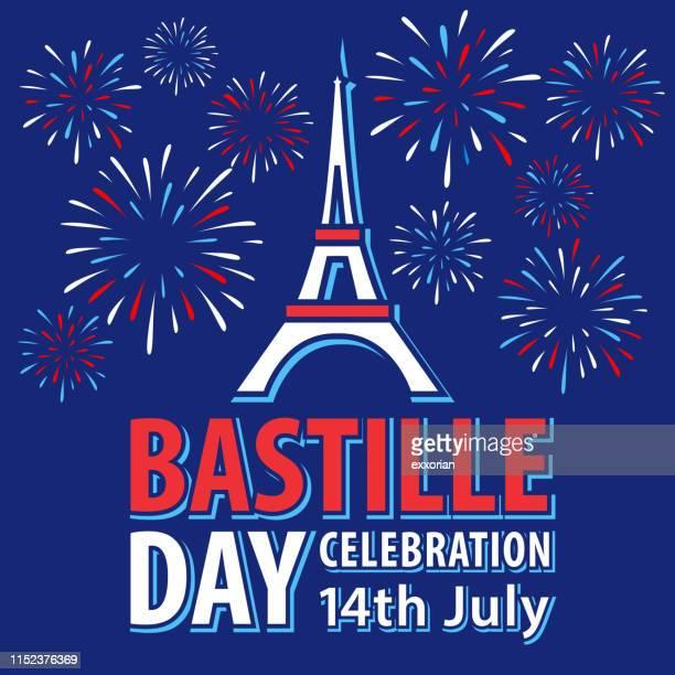 バスティーユの日パリのお祝い - 花火点のイラスト素材/クリップアート素材/マンガ素材/アイコン素材