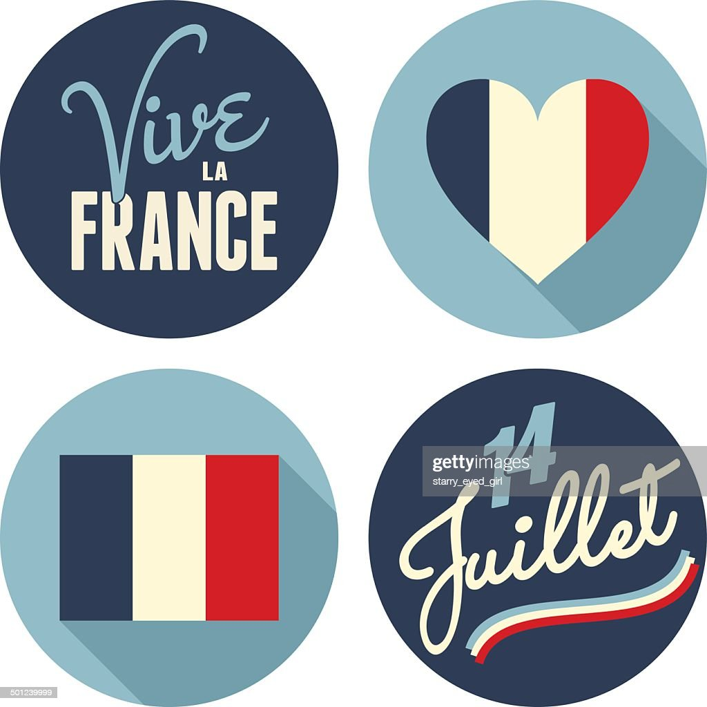 Bastille Day Stickers Collection